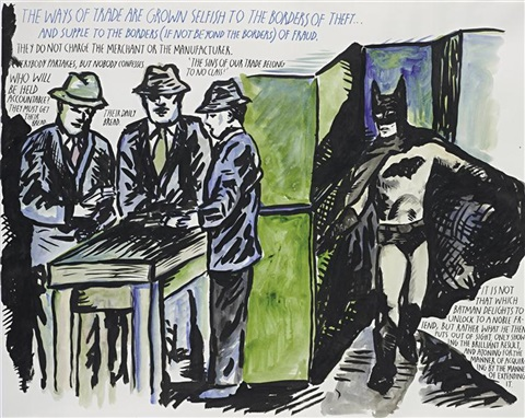 untitled the ways of trades are grown by raymond pettibon