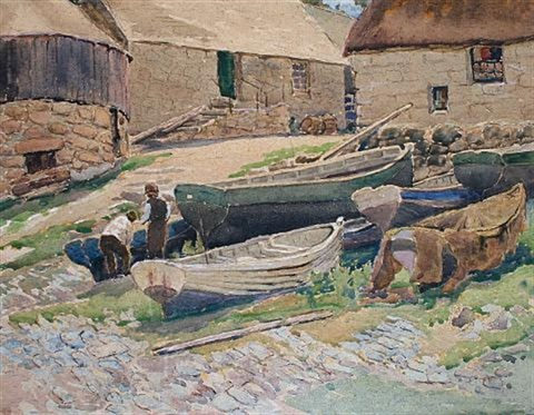 old boats sennen cove by charles walter harvey