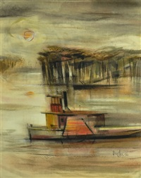 murray river paddle steamer by kenneth william david jack