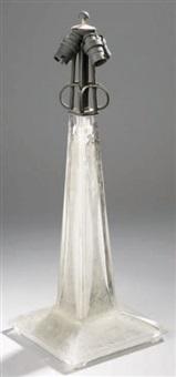 pied de la lampe paons by rené lalique