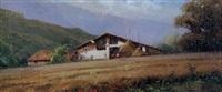 campo de trigo landscape by salvador caballero