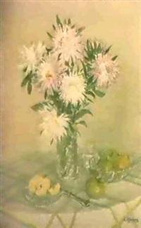 composition aux fruits et fleurs by taissia afonina