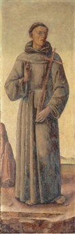saint francis of assisi in a tabernacle door by leonardo boldrini