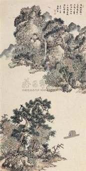 幽静览胜 (scenery along riverside) by an du