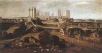 a prospect of pontefract castle by anglo-flemish school (17)