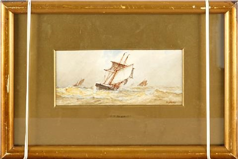 shipping scene by frederick james aldridge