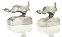 pair of duck bookends by clarisse laurent