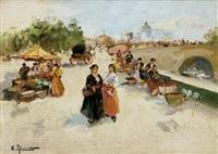 escena de mercado by emilio alvarez díaz