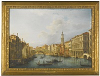 venice, view of the rialto bridge from the south by giuseppe bernardino bison
