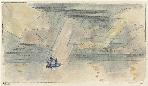 sailing ship by lyonel feininger