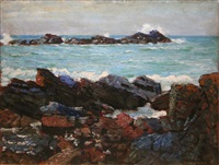 travesse cove, north cornwall by louis augustus sargent