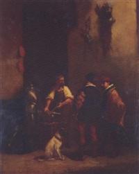 the blacksmith by josef hendrik hubert lies