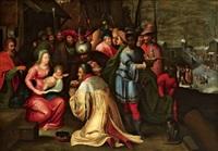 die anbetung der könige by kaspar (jasper) van den hoecke