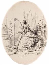 harfenspielerin by joseph anton rhomberg