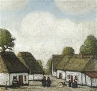 hameau en campine by jacobs (jakob) smits