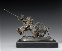 the buffalo hunt by theodore baur