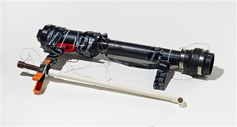 abs gun with pom fritz choke and aquanet by jason rhoades