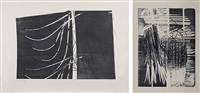 l 1973-38 (+ l 1974-16; set of 2) by hans hartung