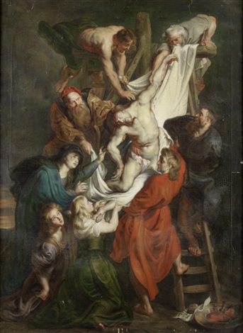 the presentation in the temple; the deposition; the visitation (triptych) by sir peter paul rubens