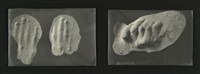 casts of the hands of eusapia palladino (2 works) by jules courtier