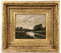 on the marne by charles françois daubigny