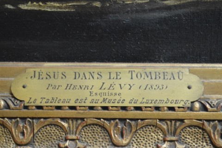jésus dans le tombeau by henri léopold lévy