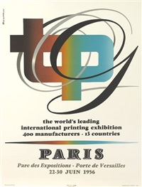 tpg/international printing exhibition by roger excoffon