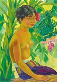 a balinese girl by léa (madame) lafugie
