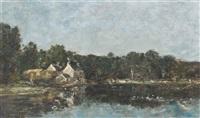 hôpital-camfrout, le moulin vert by eugène boudin