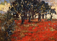 field of poppies by heinrich assmann