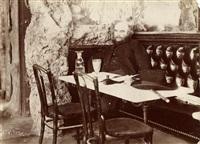 paul verlaine, poète au café françois 1er à paris, le 28 mai by paul marsan dornac