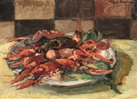 still life with crabs by paul verona