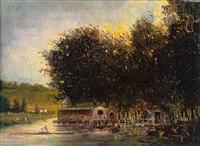 la grenouillère en bord de seine by gerarda hermina marius eraud