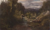 landscape with mountain brook by charles frederick kimball