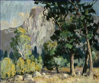 view of half dome, yosemite by florence upson young