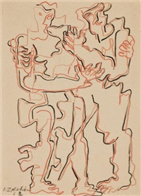 two figures by ossip zadkine