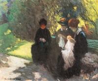 dantelărese în grădină pariziană by nicolae gropeanu