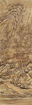 人物山水 立轴 设色纸本 by xiao yuncong