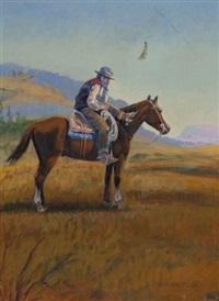 western figure on horseback by w. steve seltzer