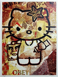 hello kitty set (2 works) by shepard fairey