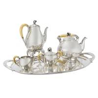 tea and coffee service (set of 6) by holger rasmussen