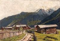 mittelberg (walsertal) mit blick zum zwölfer by otto ackermann-pasegg