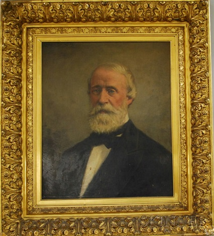 portrait of samuel putnam avery 1822 1904 by james carroll beckwith