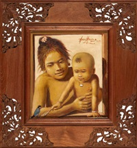 ibu dan anak (mother and child) by abdul aziz