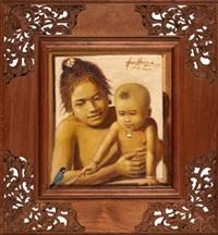 ibu dan anak (mother and child) by abdul aziz