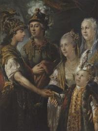 portrait d'une famille princière by matthäus loder