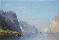 two norwegian fjord landscapes by georg anton rasmussen