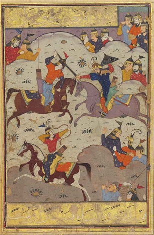 a battle scene from shahnama by anonymous iranian 16