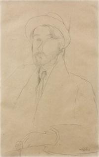 portrait de leopold zborowski by amedeo modigliani