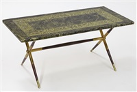 coffee table by gio ponti and piero fornasetti